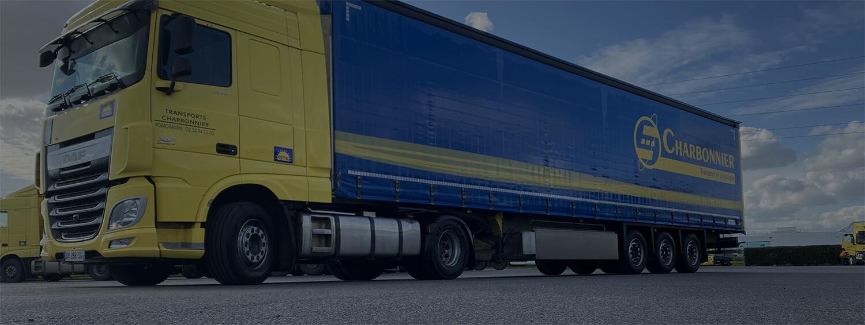 Camion vue de profil